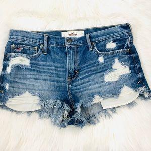 Hollister Women's Distressed Jean Shorts Sz 9